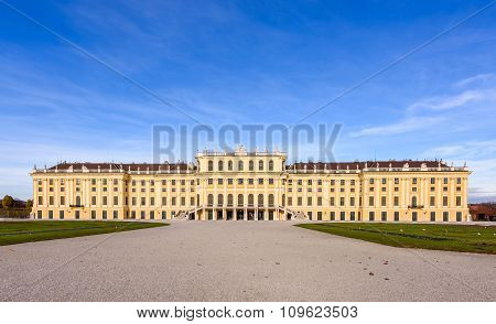 Beautiful palace with blue sky