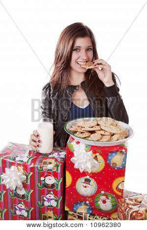 Eating Cookie Presents