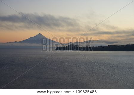 Volcano Osorno at Sunrise