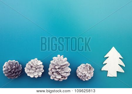 Pinecones And Toy Tree
