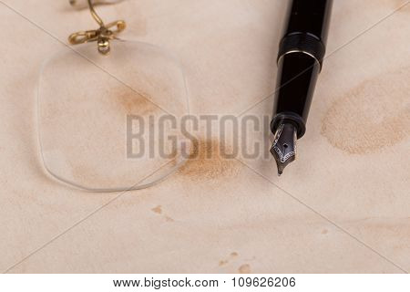 Fountain Pen And Pince-nez