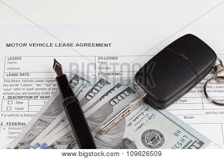 Lease Vehicle Document Agreement