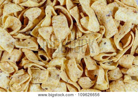 Close Up Of Fried Corn Chips