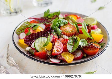 Salad With Fresh Summer Vegetables