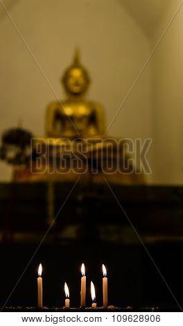 Light Candle,buddha Blur.