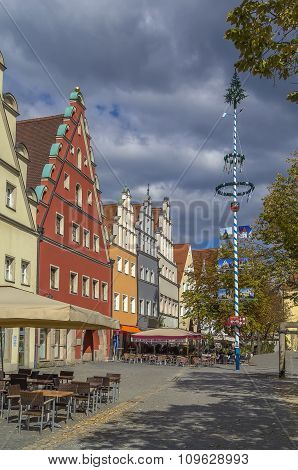 Main Square In Weiden In Der Oberpfalz, Germany