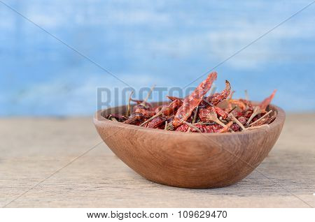 Chili In Wooden Bowls.