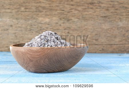 Rice Berries In Wooden Bowls.