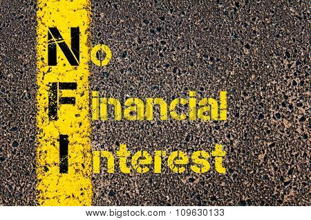 Business Acronym Nfi As No Financial Interest