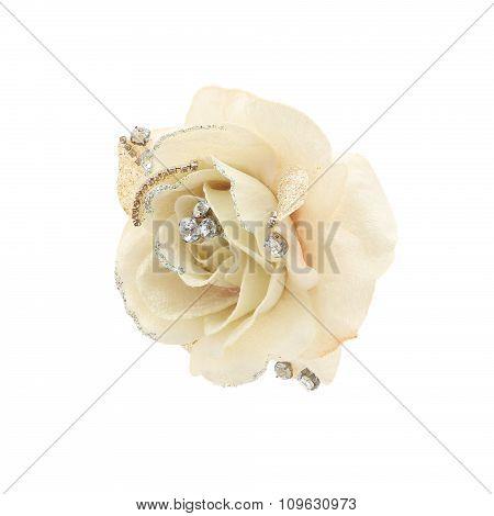 Textile flower. Christmas ornament