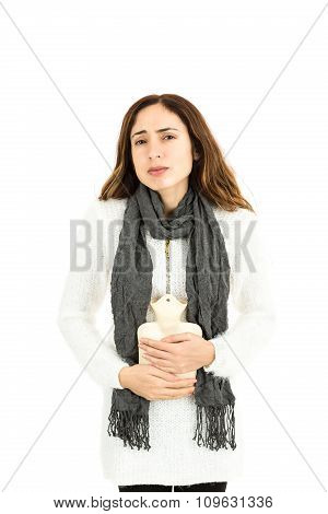 Woman With Hot Water Bottle