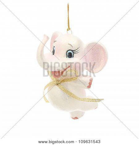 Dancing elephant. Christmas decoration