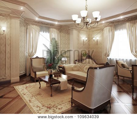 Classical Interior Living Room