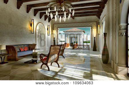Lobby Spa Ethnic Style