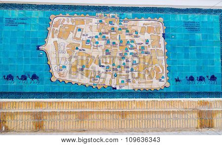 The Map Of Khiva