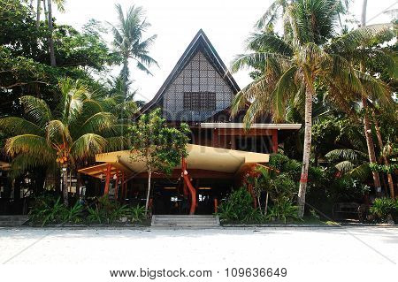 Alona Tropical Beach Resort facade in Bohol, Philippines