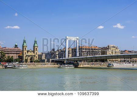 Rope Bridge In Hungary