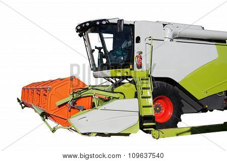 Combine Harvester Isolated On White Background
