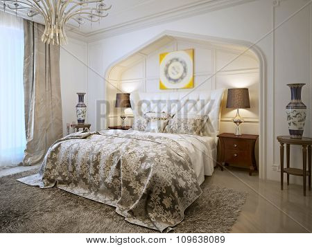 Luxurious Bedroom In Arabic Style.