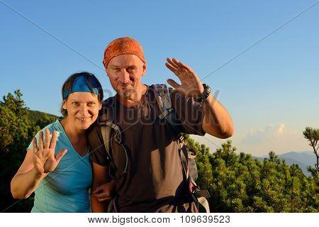 Hiker's Greeting