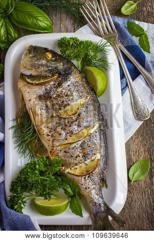 Baked Dorado With Spicy Herbs