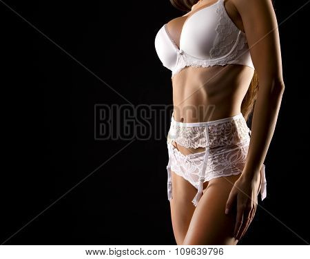 Woman In White Lingerie