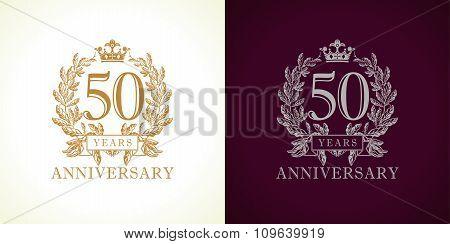 50 anniversary luxury logo.