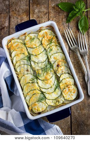 Baked Vegetable In Casserole Dish