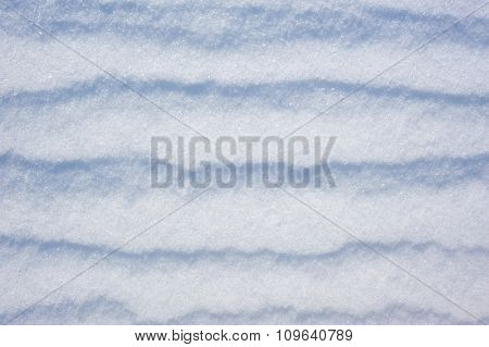 white snow as background, winter landscape