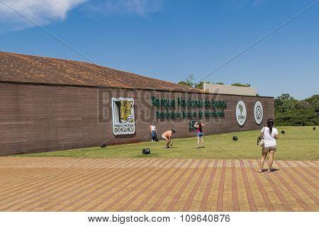 People At Iguazu Park Entrance