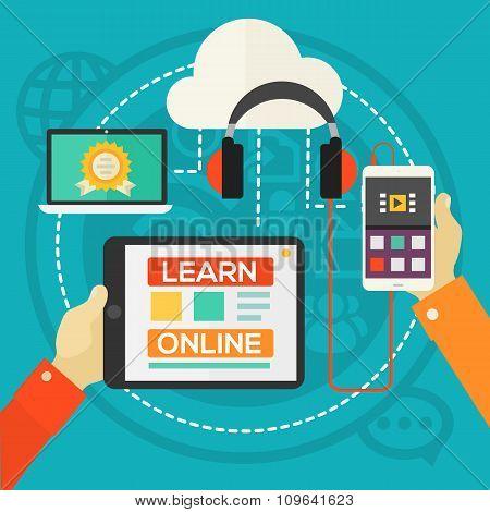 Education Concept - E-learning