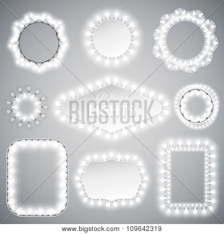 White Christmas Lights Frames