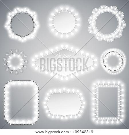 White Christmas Lights Frames