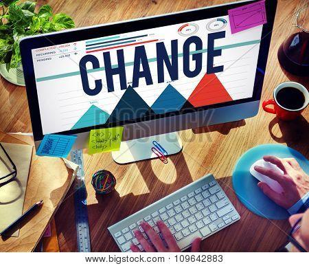 Change Solutions Improvement New Motivation Concept