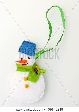 Handmade felt snowman