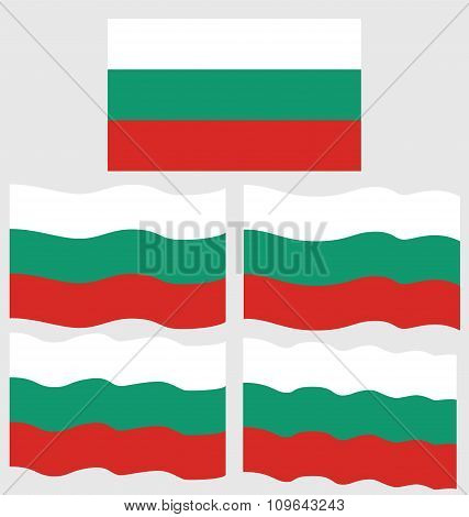 Flat And Waving Flag Of Bulgaria Country