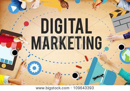 Digital Marketing Brainstorming Advertisement Concept