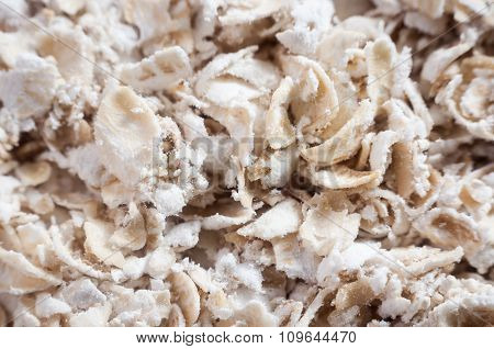 Oat Flakes Close Up
