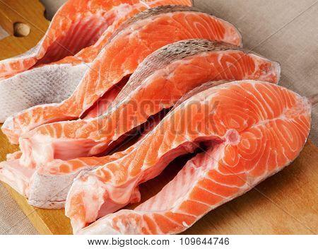 Salmon fresh steak