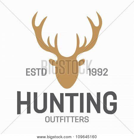 Deer head design element