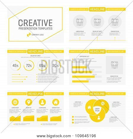 Vector template for multipurpose presentation slides with graphs and charts. Infographic element and