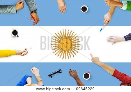 Argentina Flag Country Nationality Liberty Concept
