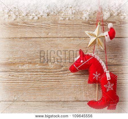 Christmas Cowboy Background