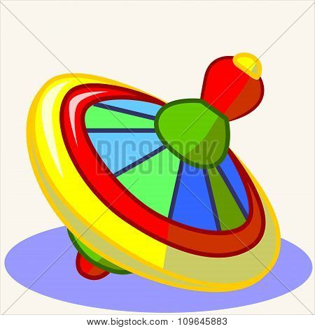 Fun toy. Cartoon vector Illustration of cute whirligig