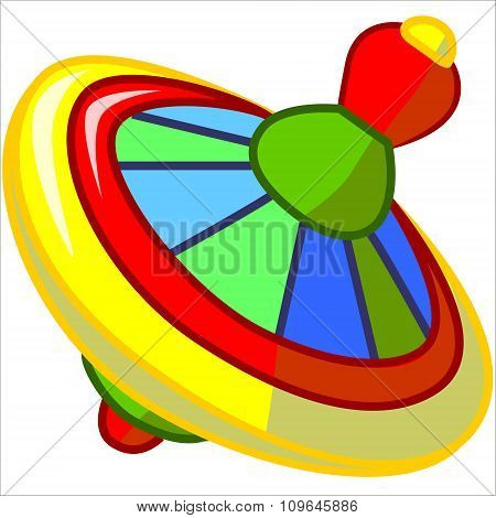 Vector isolated illustration cute cartoon of yellow whirligig