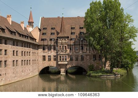 building on the River Pegnitz
