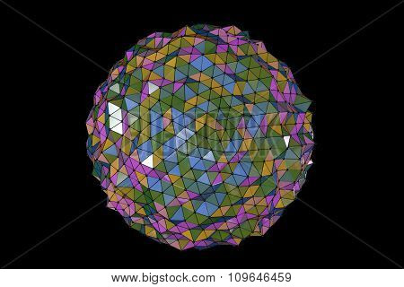 Abstract Background Colourful Polygons
