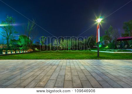 empty ground in a park