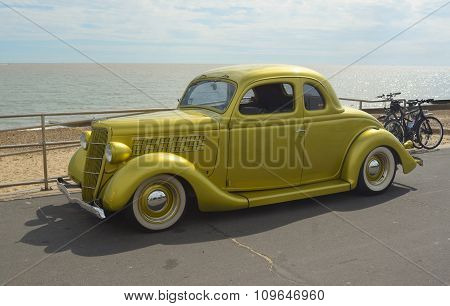 Classic Gold  Ford vintage car