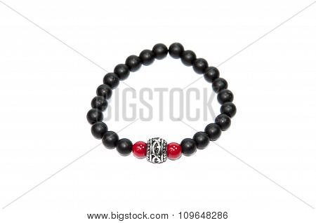Red and black color men bracelet